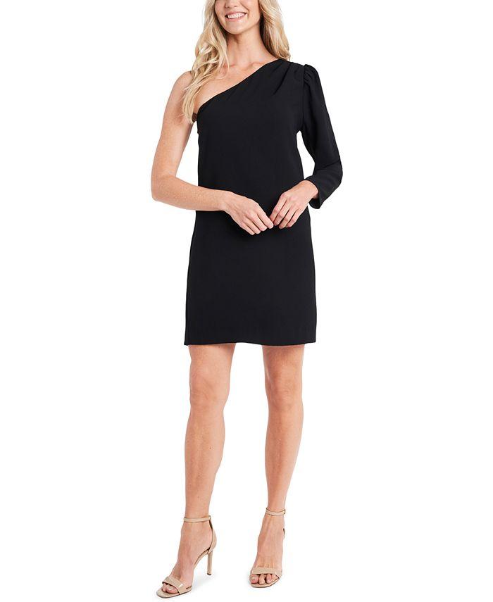 CeCe - One-Shoulder Moss Crepe Dress