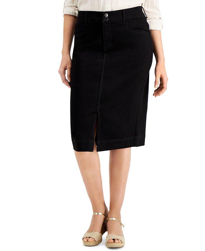 Charter Club - Denim Midi Skirt