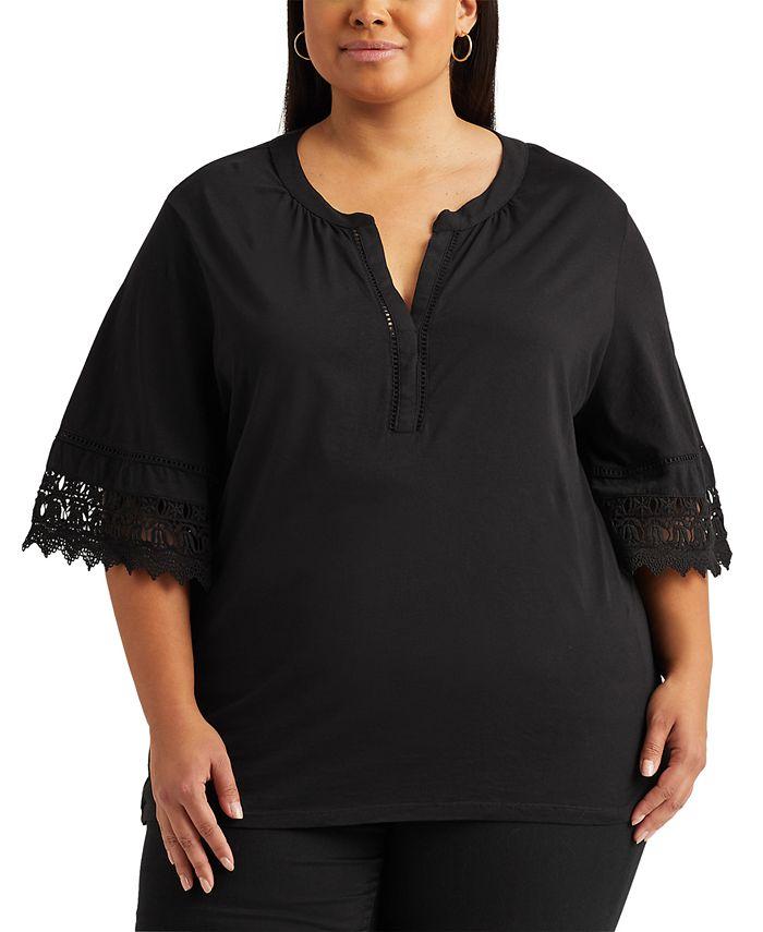 Lauren Ralph Lauren - Plus Size Bell-Sleeve Top