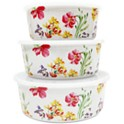 3-Piece Martha Stewart Collection Floral Nesting Food Storage Containers