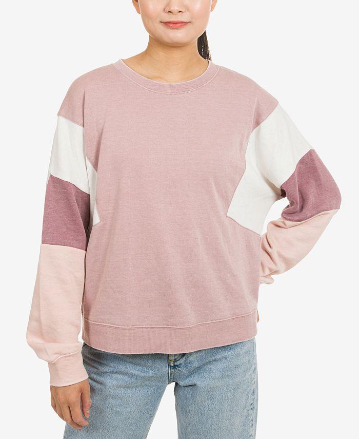 Hippie Rose - Juniors' Colorblocked Sweatshirt