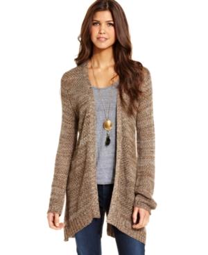 Long Sleeve Cardigan Sweaters For Juniors - Gray Cardigan Sweater