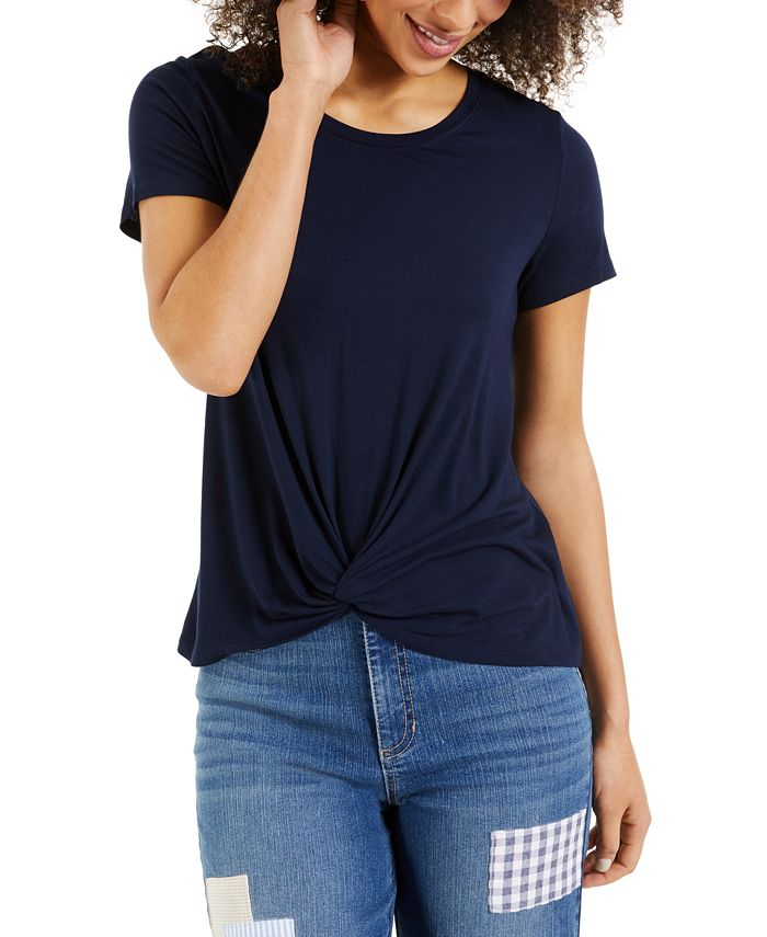 Style & Co - Twist-Front Top