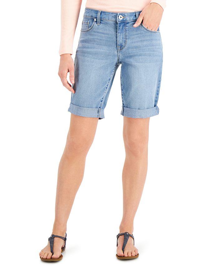 Style & Co - Plus Size Denim Bermuda Shorts