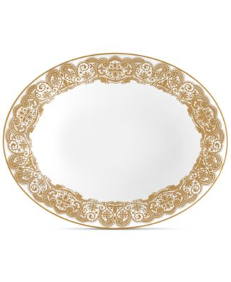 Waterford Lismore Lace Gold Vegetable Dish