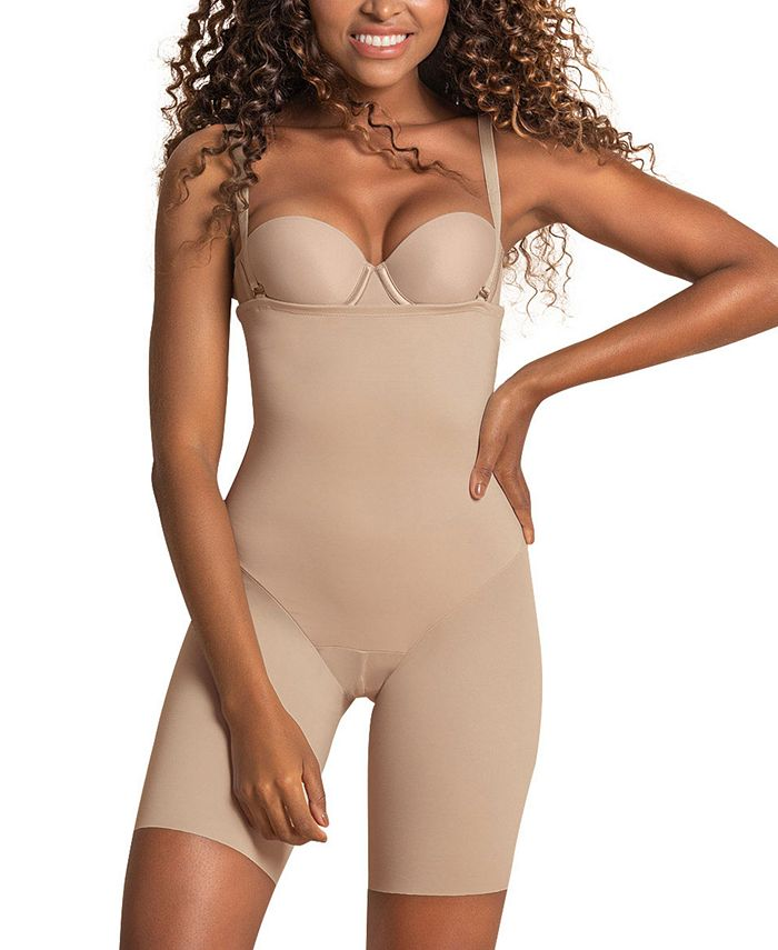 Leonisa Women S Undetectable Edge Strapless Mid Thigh Body Shaper 012951 Reviews Shapewear Women Macy S