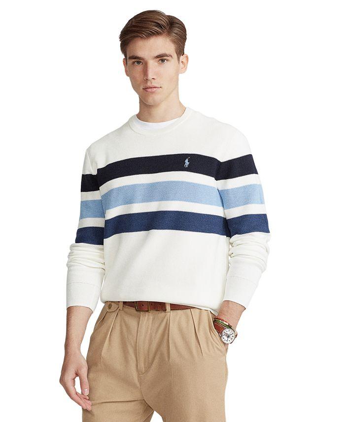 Polo Ralph Lauren - Men's Striped Cotton Crewneck Sweater
