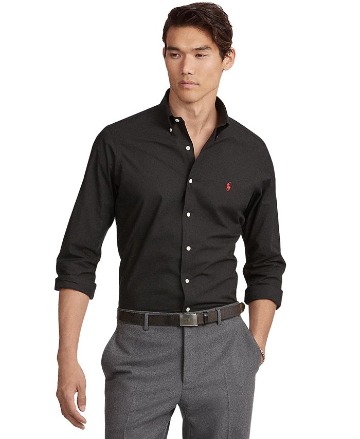Polo Ralph Lauren Men's Classic Fit Stretch Poplin Shirt & Reviews ...