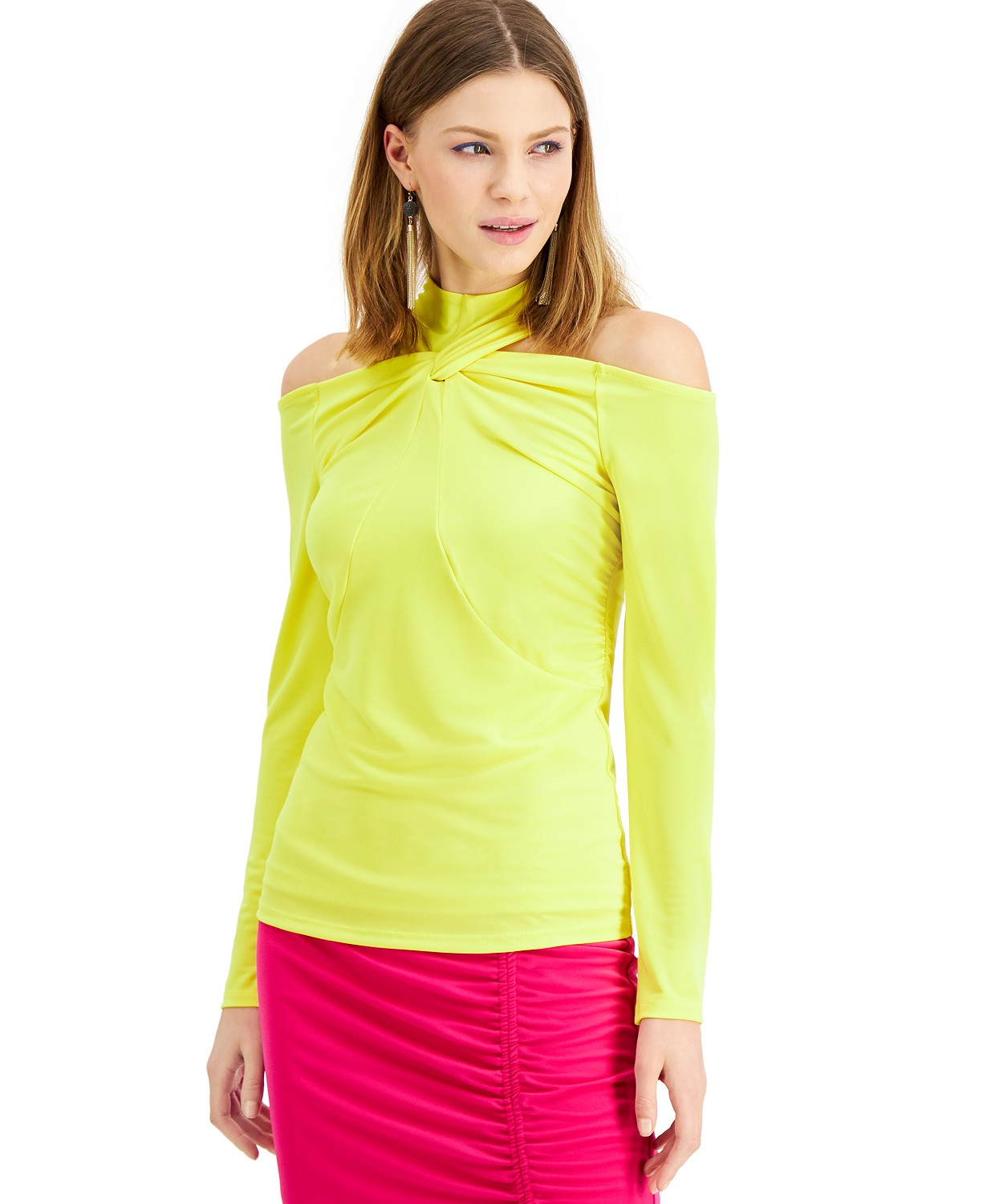 INC International Concepts INC Twisted Cold-Shoulder Top, Created for Macy's