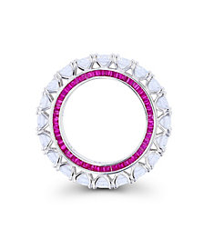 Cubic Zirconia Round and Baguette Eternity Ring