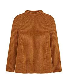 Adyson Parker Women's Easy Mock Neck Sweater