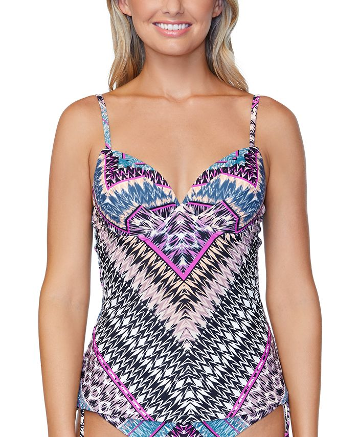 Raisins - Juniors' Wild About You Printed Underwire Tankini Top