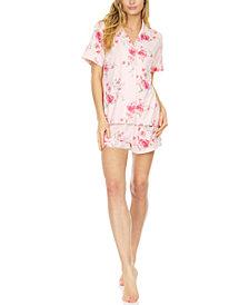Flora by Flora Nikrooz Notched Top & Shorts Pajama Set