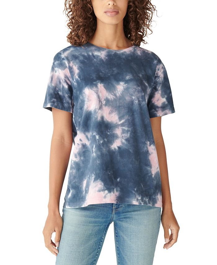 Lucky Brand - Cotton Tie-Dyed Relaxed T-Shirt
