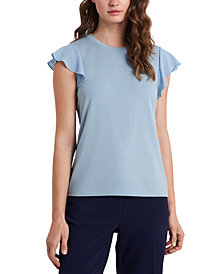 Riley & Rae Suzi Flutter-Sleeve Top, Created for Macy's