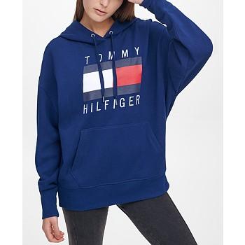 Tommy Hilfiger Sport Oversized Boyfriend Logo Hoodie