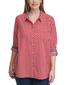 Tommy Hilfiger Plus Size Cotton Daisy Tunic Shirt