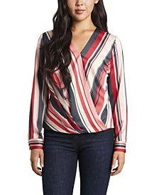 Women's Gala Stripe Wrap Front Blouse