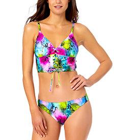 California Waves Juniors' Cami Bikini Top & Hipster Bikini Bottoms, Created for Macy's