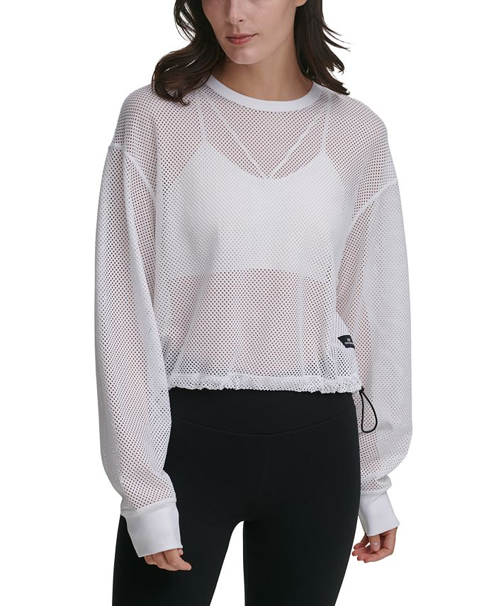 DKNY - Long-Sleeve Mesh Top