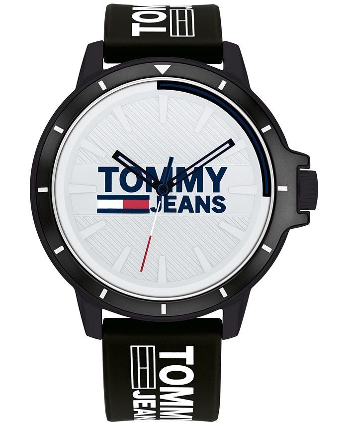 Tommy Hilfiger - Black Silicone Strap Watch 44mm