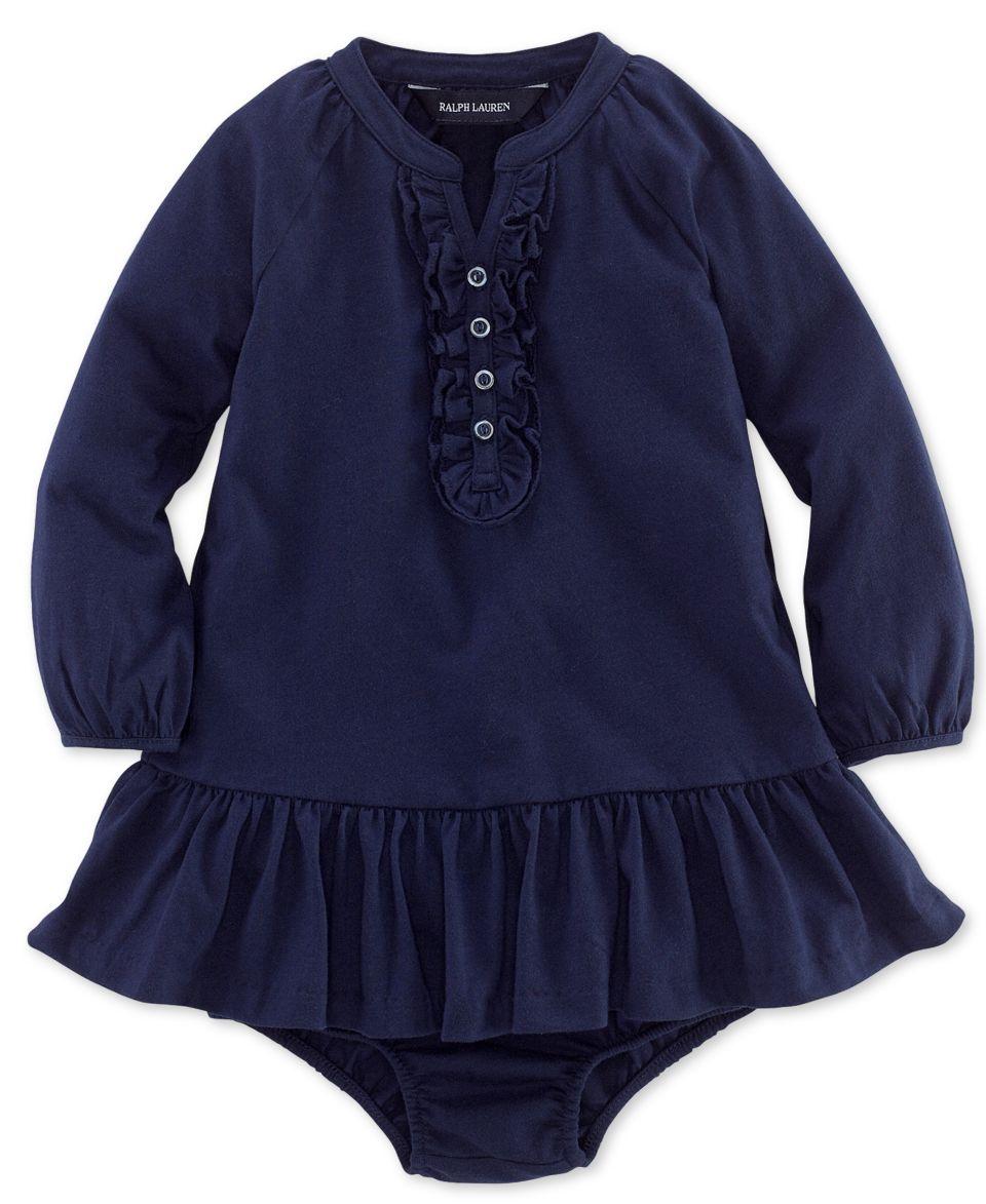 Ralph Lauren Baby Girls Dress, Baby Girls Striped Hooded Dress   Kids