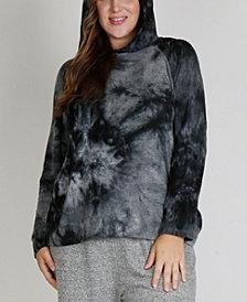 Women's Plus Size Cozy Tie Dye Hoodie