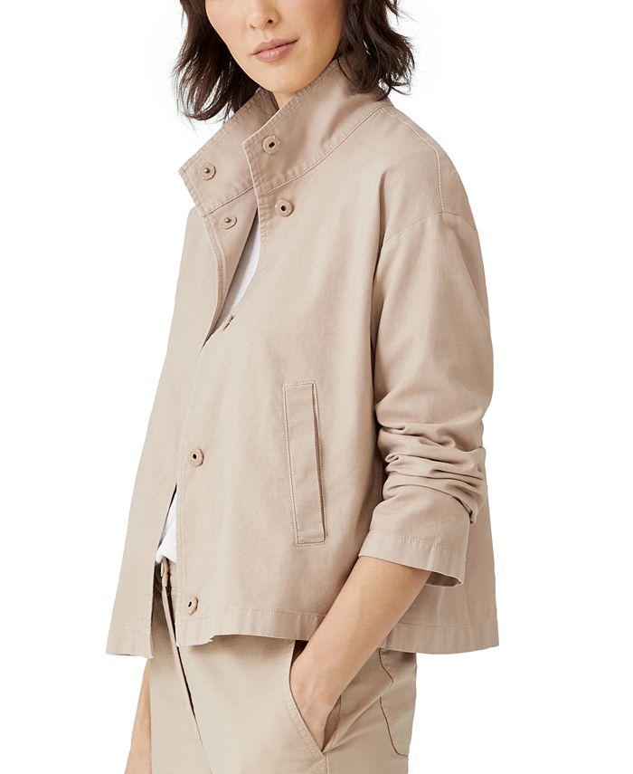 Eileen Fisher - Organic Stand-Collar Jacket
