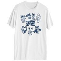 Hybrid Animal Crossing Friends Mens Short Sleeve Graphic T-shirt Deals