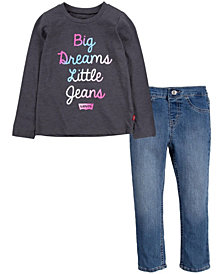 Levi's Little Girls T-shirt and Jeans Set