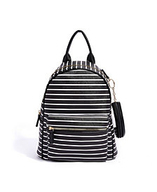 LIKE DREAMS Good Vibes Striped Vegan Leather Backpack