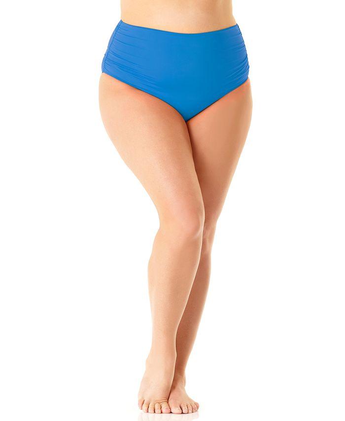 Anne Cole - Plus Size High-Waist Bikini Bottoms