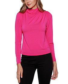Belldini Black Label Long Sleeve Mock Neck Top