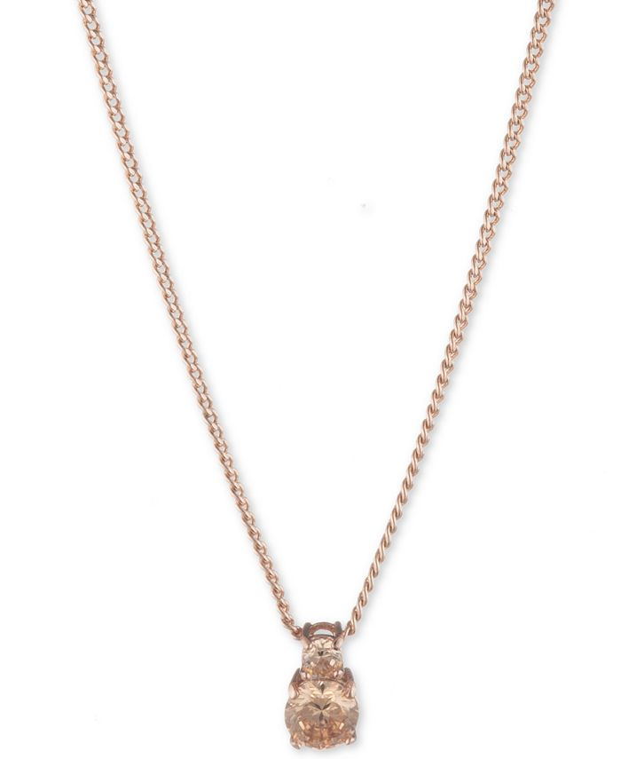Givenchy - Rose Gold and Silk Crystal Pendant Necklace