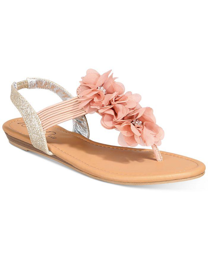 Wild Pair - Sari Floral Embellished Flat Sandals