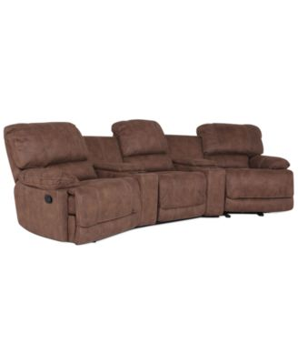 Jedd Fabric 6 Piece Home Theatre Sectional Sofa