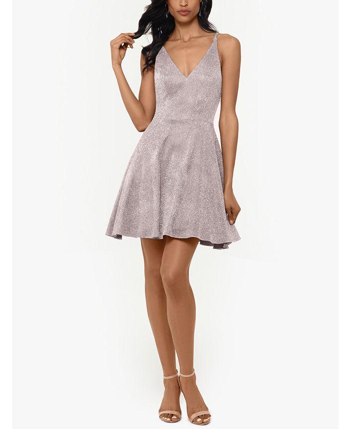 XSCAPE - Glitter Fit & Flare Dress