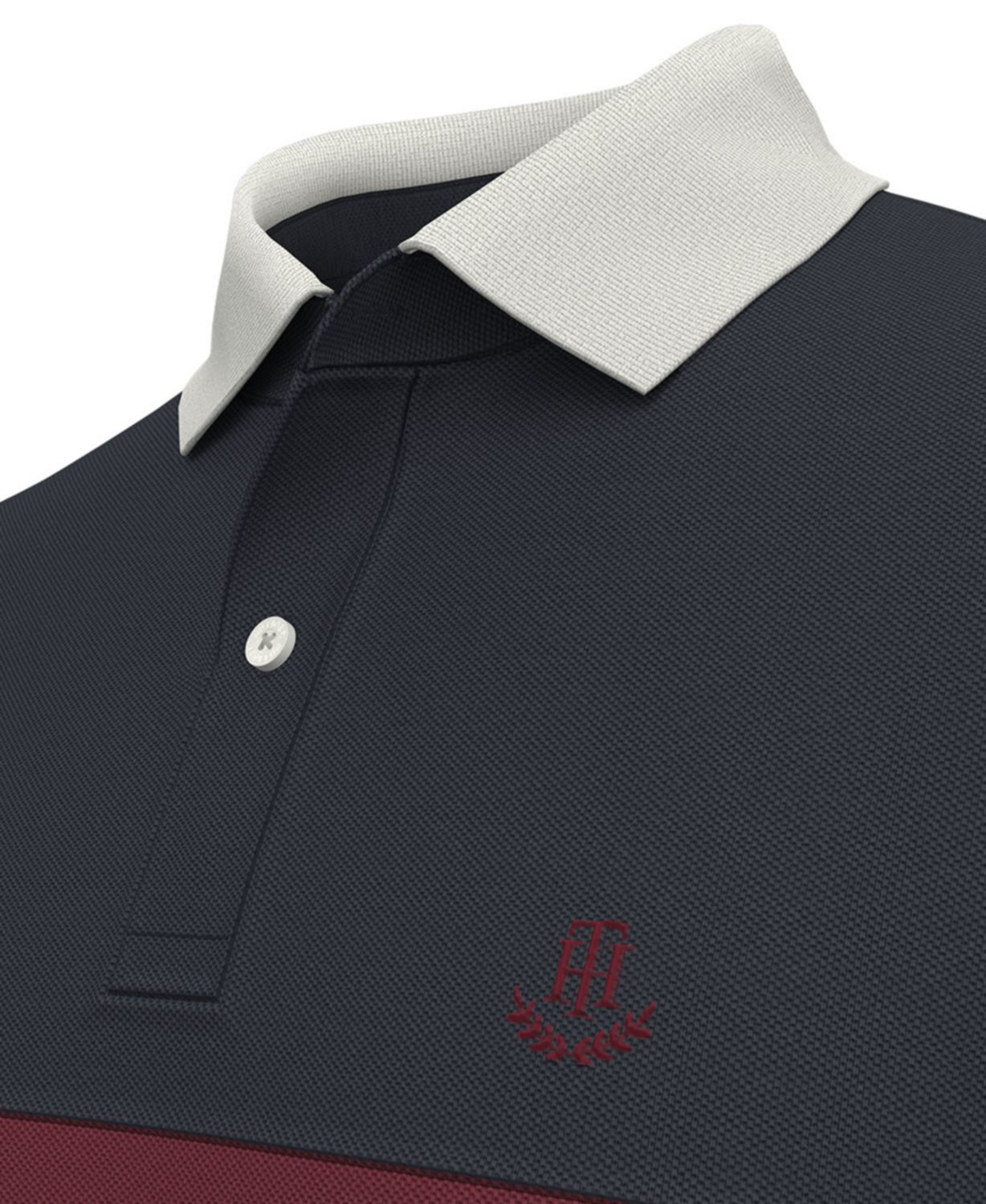 Tommy Hilfiger Men's Custom-Fit TH Luxe Merit Colorblocked Polo & Reviews - Polos - Men - Macy's