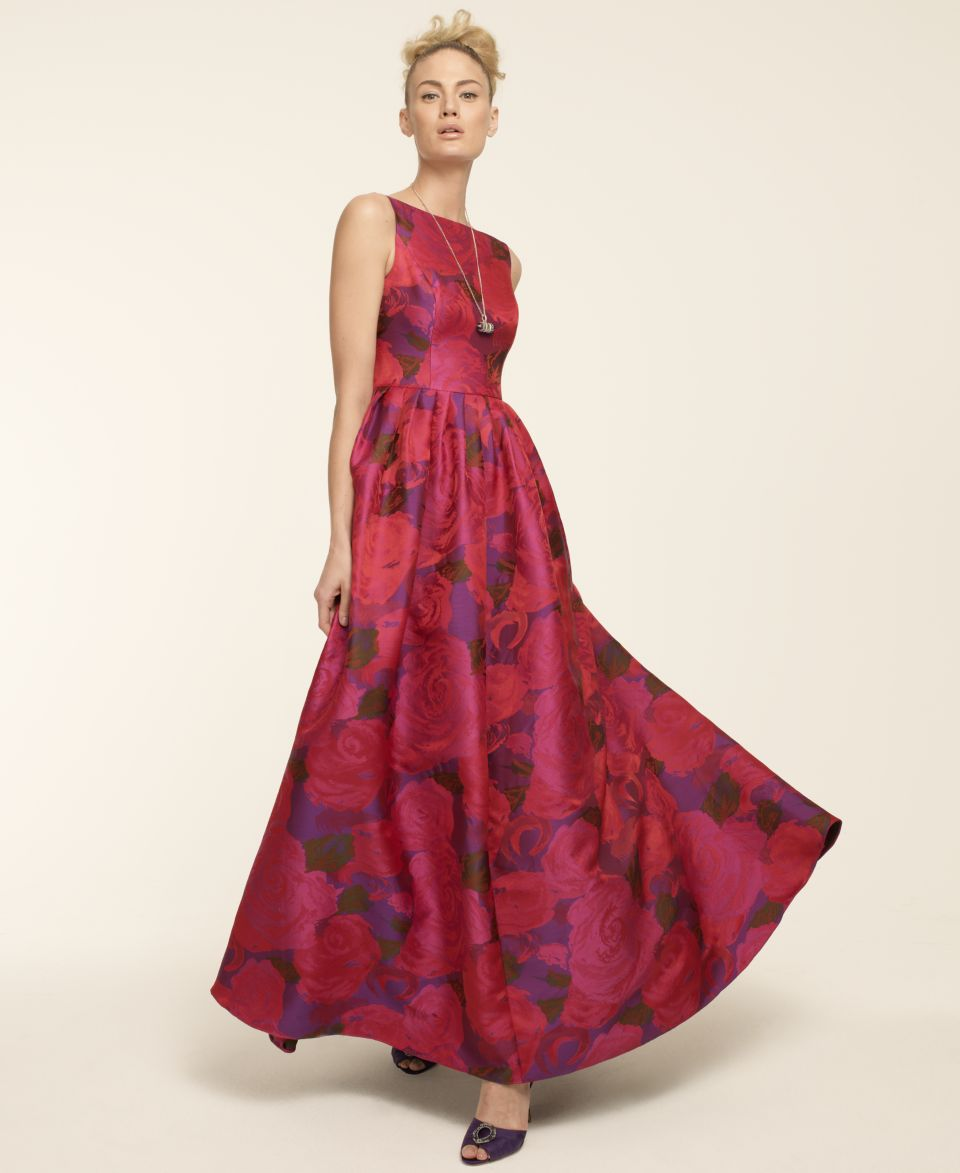 Adrianna Papell Sleeveless Floral Print Ball Gown   Dresses   Women