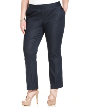 Vince Camuto Plus Size Straight-Leg Pants