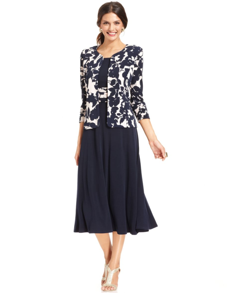 Jessica Howard Embellished Jacket & Pleated Dress   Dresses   Women