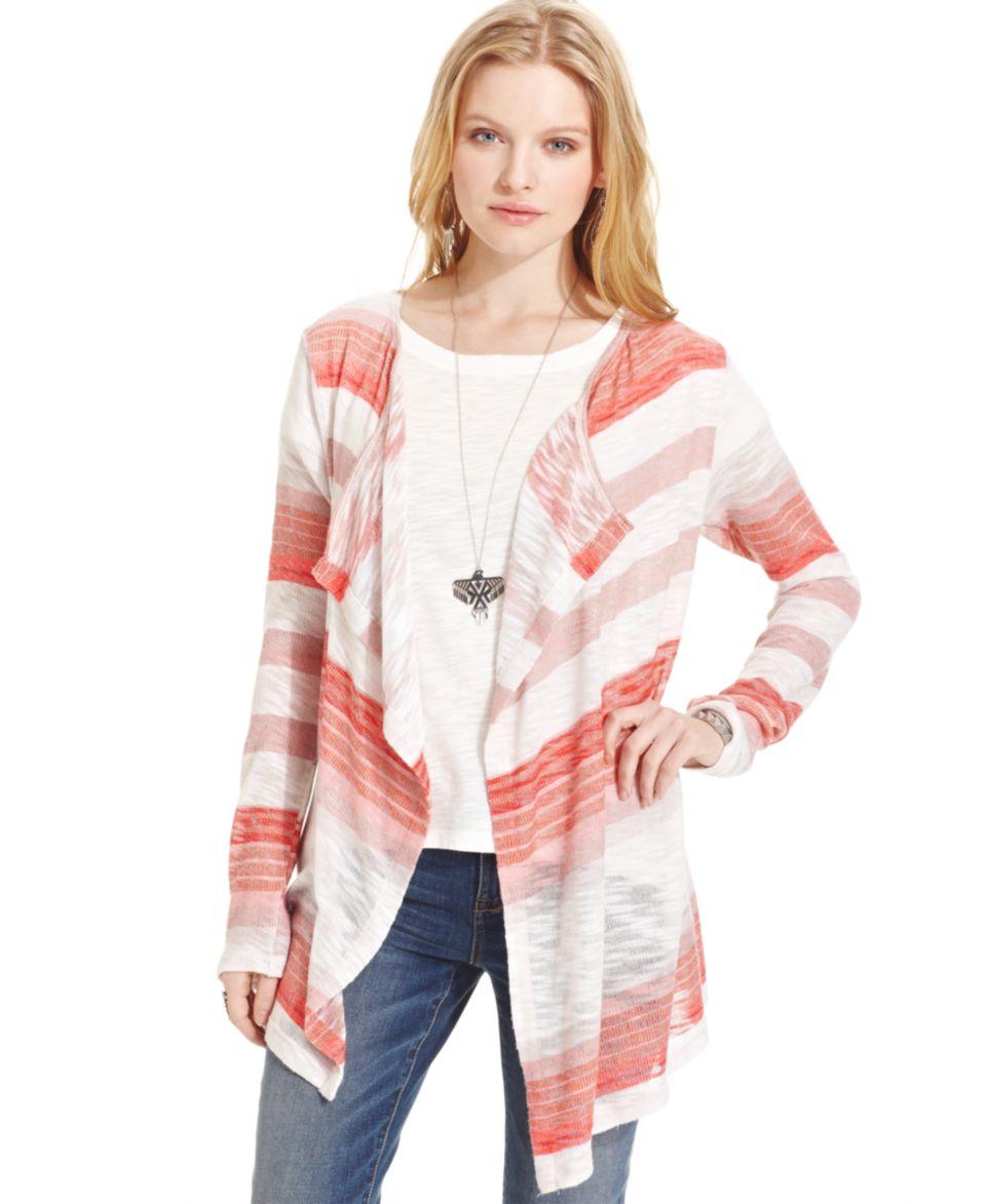 Jones New York Long Sleeve Colorblocked Draped Cardigan   Sweaters   Women