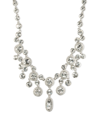 Givenchy Silver-Tone Crystal Statement Necklace