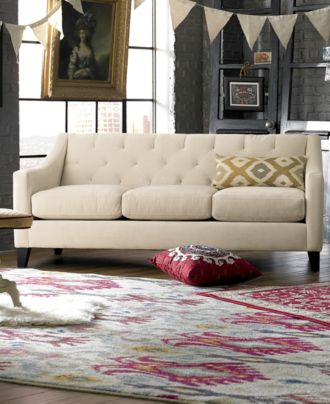 Chloe Velvet Tufted Sofa Living Room Furniture Collection ...