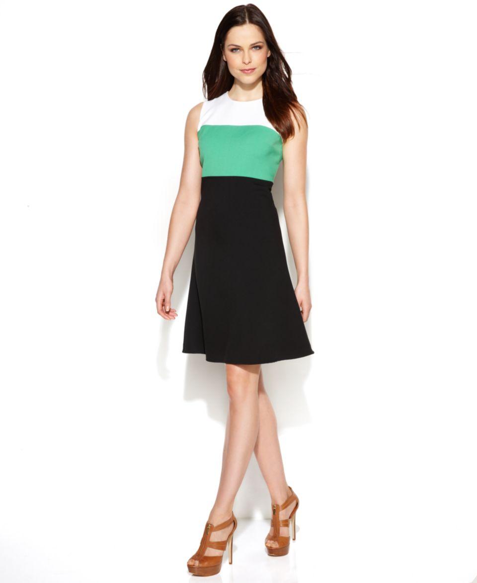MICHAEL Michael Kors Petite Sleeveless Mosaic Print Sheath Dress   Dresses   Women