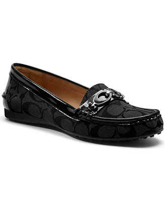 coach fortunata driving loafers  shoes  macy's