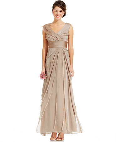 Adrianna papell tiered evening dress dresses women for Macy s dresses for weddings