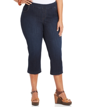 Lee Platinum Plus Size Juno Capri Jeans, Horizon Wash