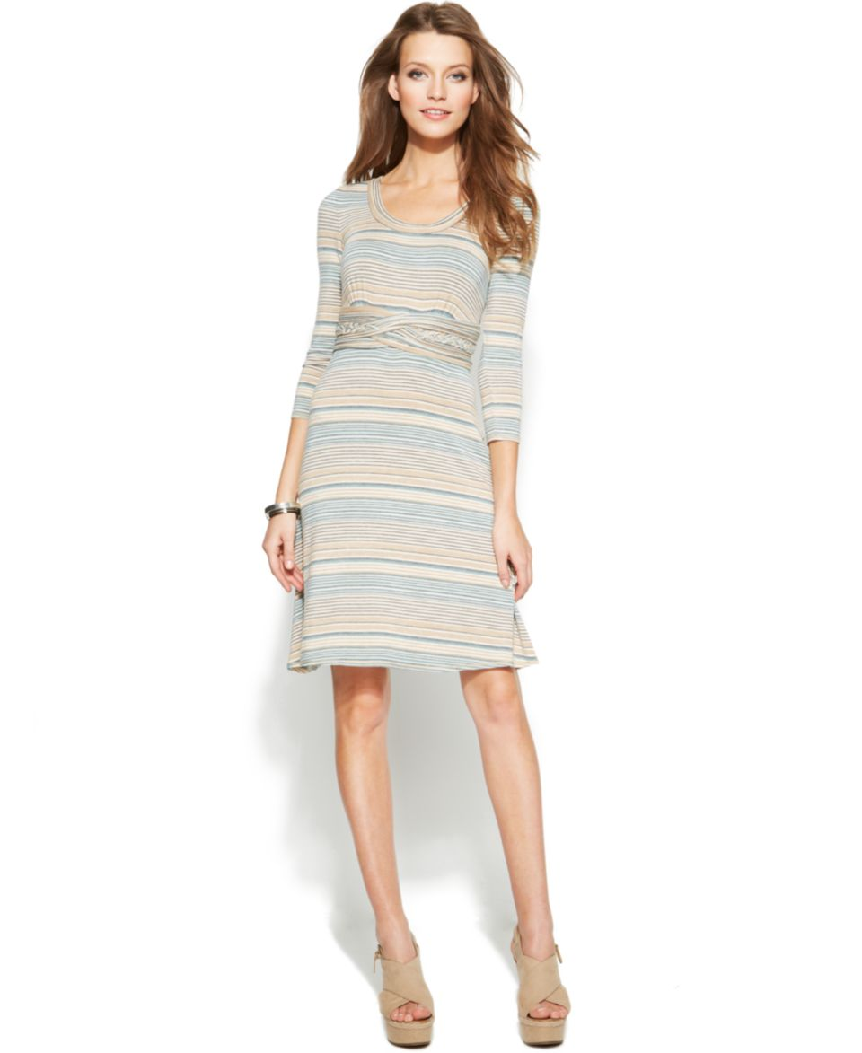 Calvin Klein Striped Side Tie Dress   Dresses   Women