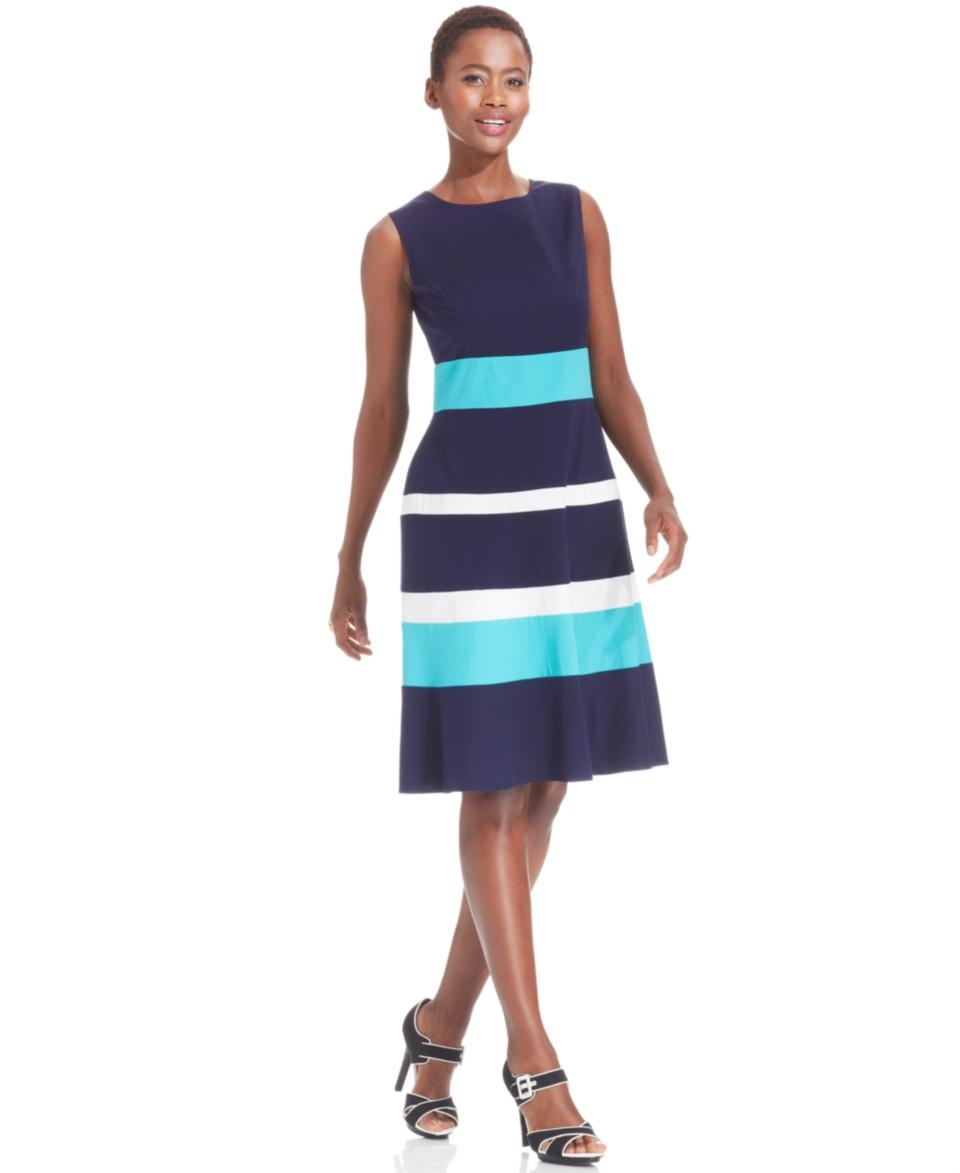 Anne Klein Sleeveless Colorblock Dress   Dresses   Women